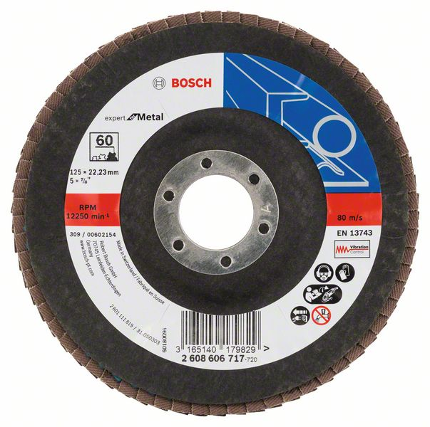 Bosch Fächerschleifscheibe 125, Korn 60