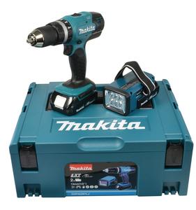 Makita Akku-Schlagbohrschrauber 18 V / 1,5 Ah + Akku-Lampe
