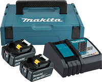 Makita Power Source Kit 18,0V 2x5,0Ah Akkus ohne Makpac