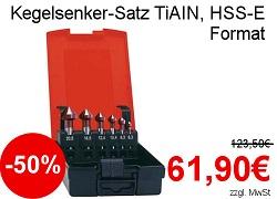 Format Kegelsenker-Satz TiAIN HSS-E