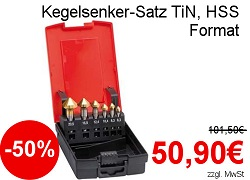 Format Kegelsenker-Satz TiN HSS