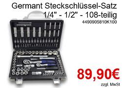 Germant Steckschlüssel-Satz 108-teilig